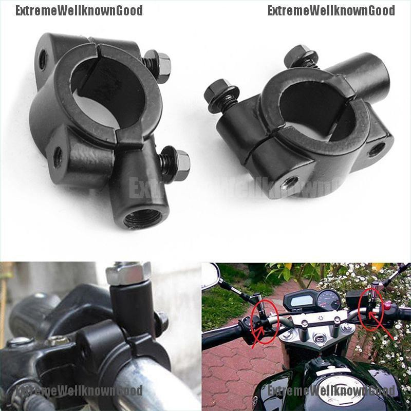 "2X 8mm 7//8/"" Motorcycle Handlebar Mirror Mount Holders Adapter Aluminum Clamp New"