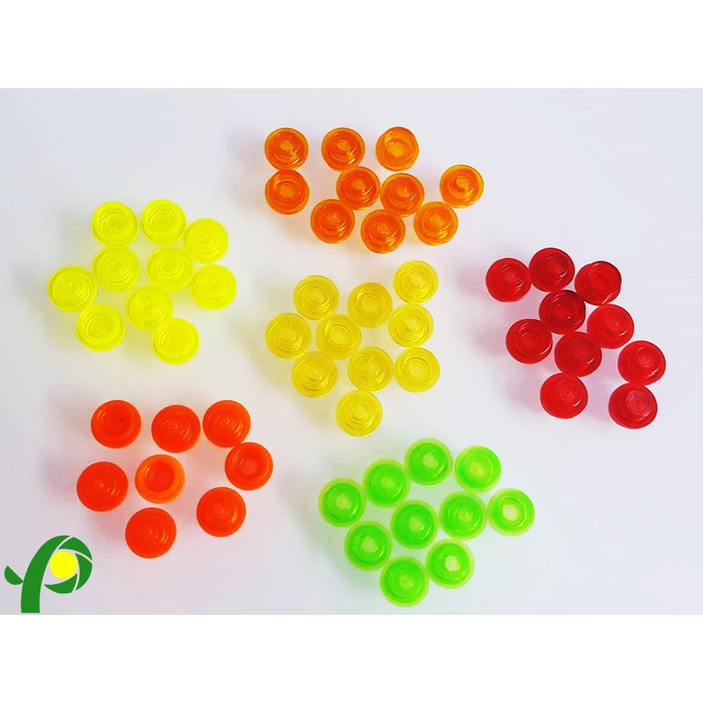 Lego TRANS MULTI COLOR  1x1 PLATE ROUND Lot of 50