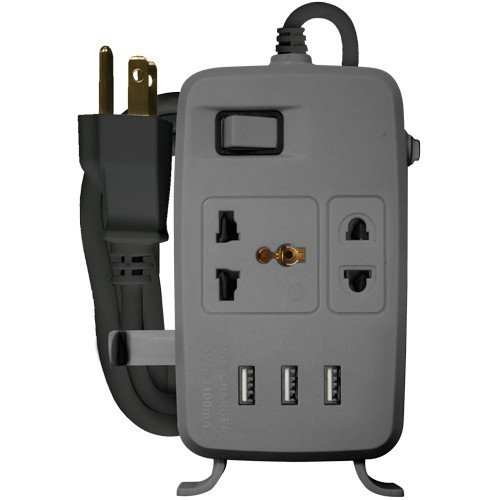 Royu 2 Gang Power Extension Cord w/1 Main Switch -REDEC632/G