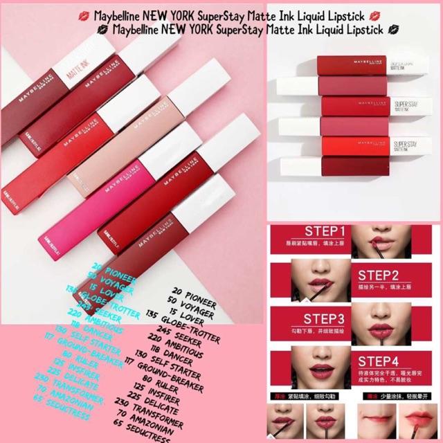 MAYBELLINE SUPERSTAY MATTE INK LIQUID LIPSTICK | Shopee
