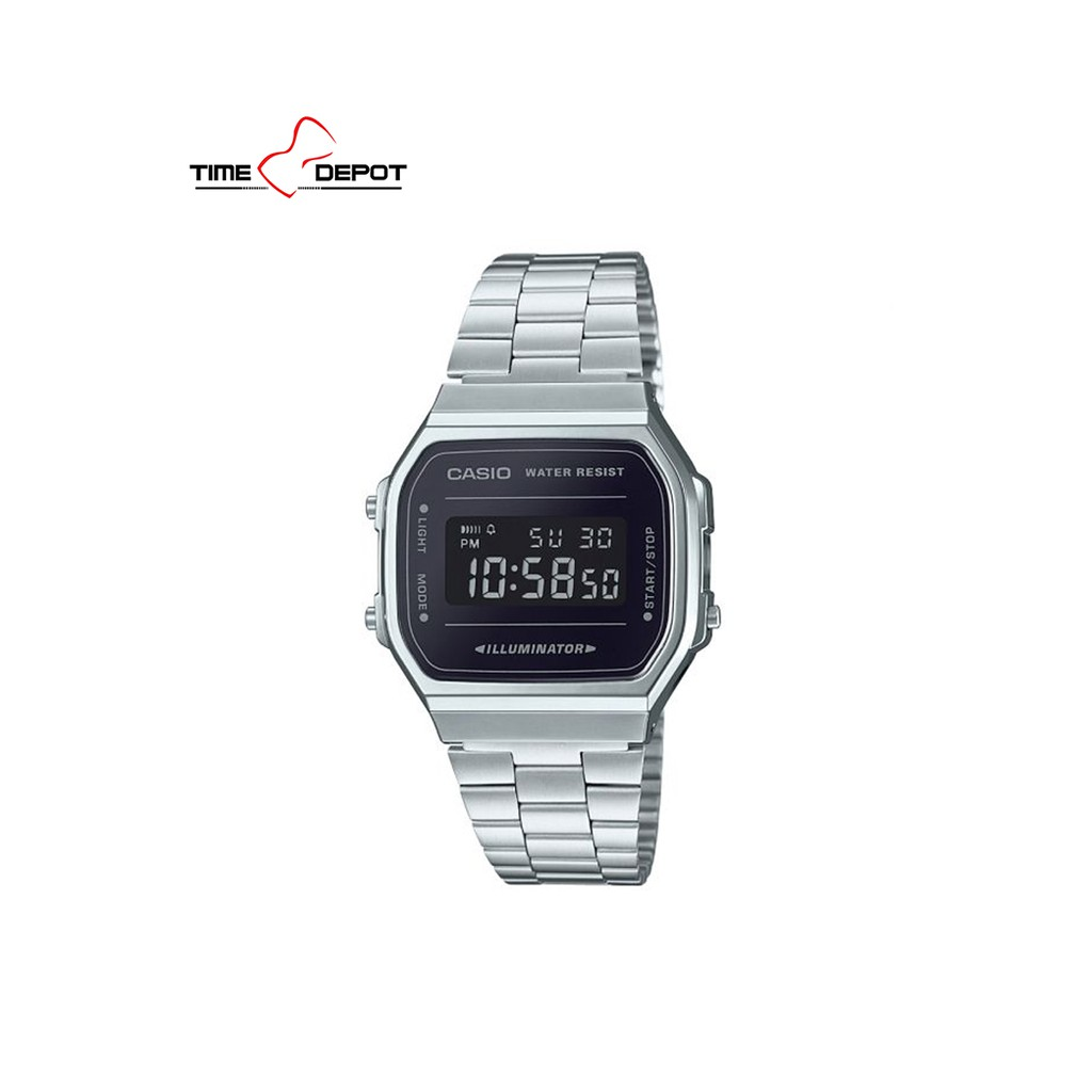 cd0208952 Casio digital watch gold at silver steel | Shopee Philippines