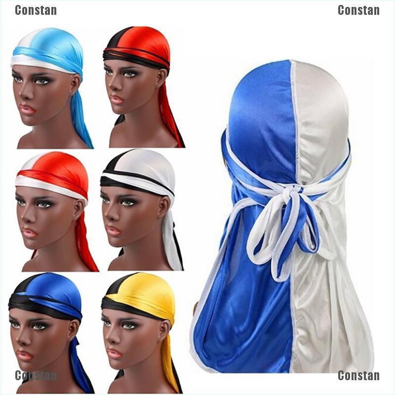 Fashion Women Men Silky Durag Head Wrap Cap Turban Hijab Summer Bandanna Rag Hat