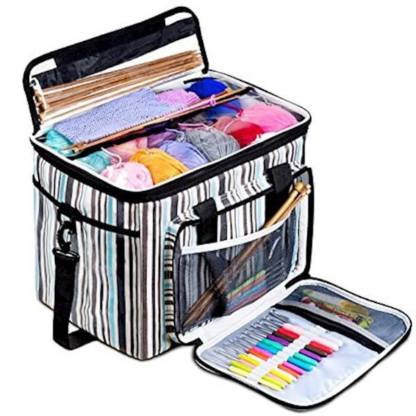 Diy Apparel & Needlework Storage New Big Capacity Yarn Storage Tote Knitting Bag Women Travel Yarn Storage Organize Case For Crochet Hooks & Knitting Needles Kit