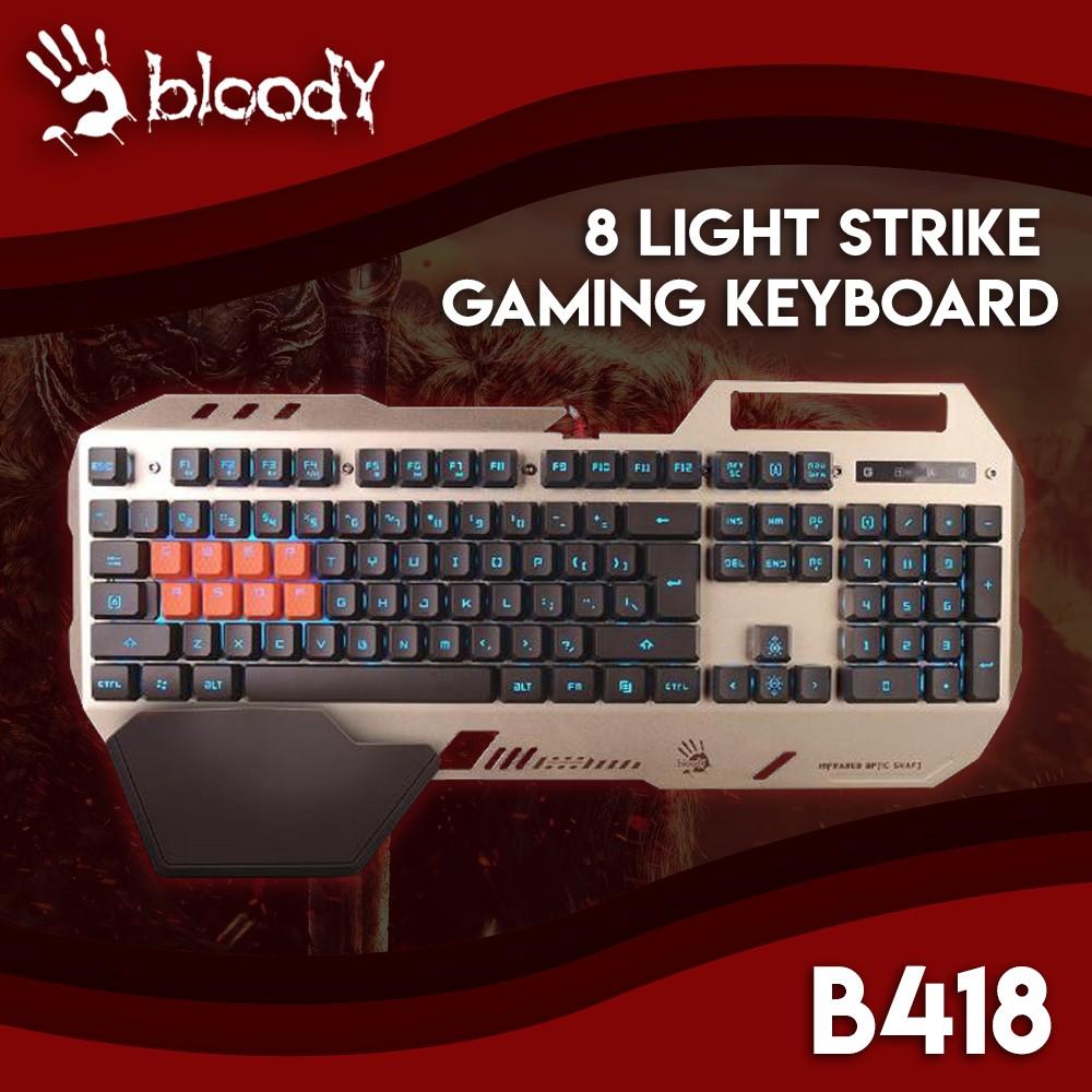 962dac81f43 Bloody B418 8 Light Strike Gaming Keyboard | Shopee Philippines
