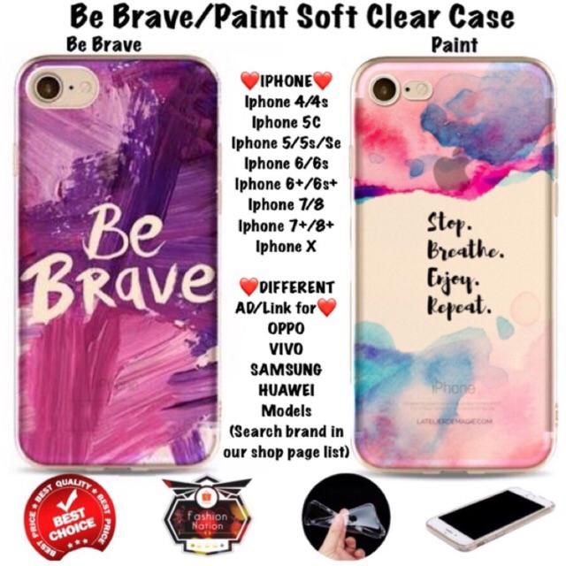 huge selection of 0c5fb ea597 Brave Paint iPhone Case 4 4s 5 5s Se 5c 6 6s 7 8 Plus X vivo