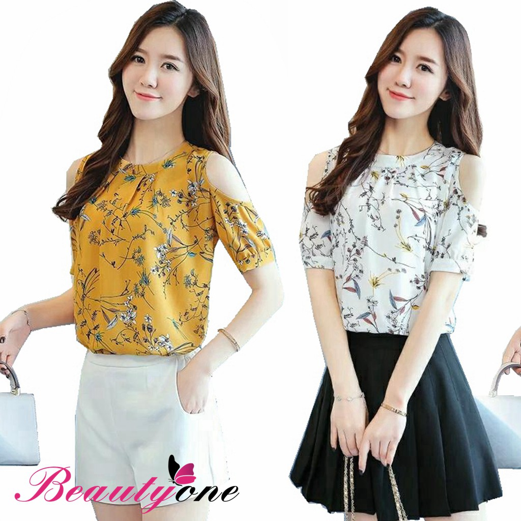 de845d81294 💋JT Korean Plus Size Floral Blouse | Shopee Philippines