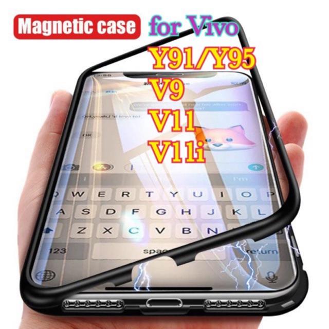 for Vivo Y91/Y95,V9,V11,V11i Metallic Magnetic Case