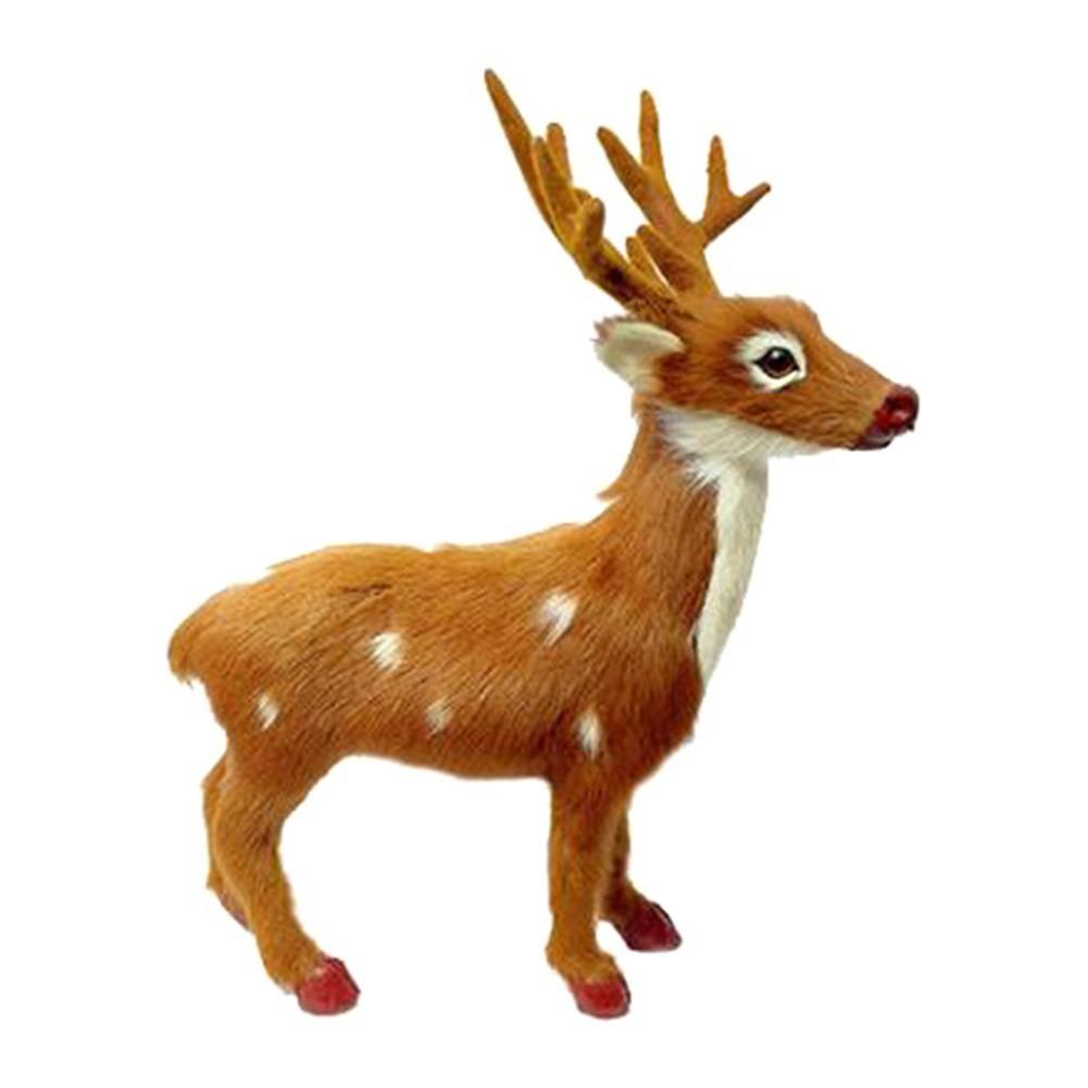 Christmas Plush Toy Deer Reindeer Santa Craft Elk Xmas Home Tree Decor Ornament