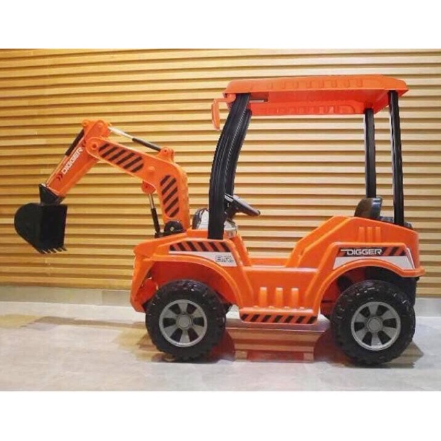 Big Backhoe Excavator Bulldozer Rechargeable Ride On Car