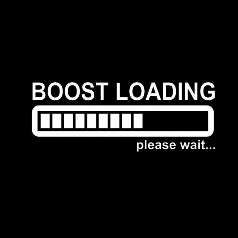 20CM*8CM Creative Boost Loading Please Wait For Turbo Funny Car Stickers