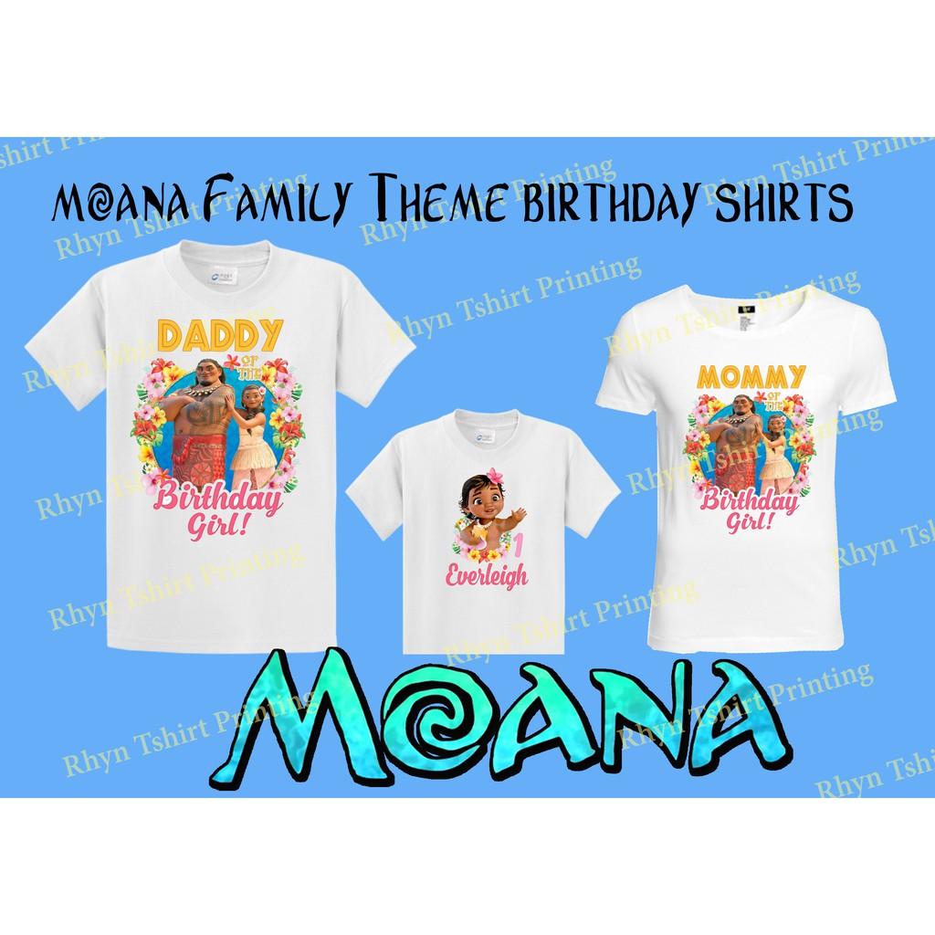 63ec68cf Moana Family Shirt Birthday Theme | Shopee Philippines