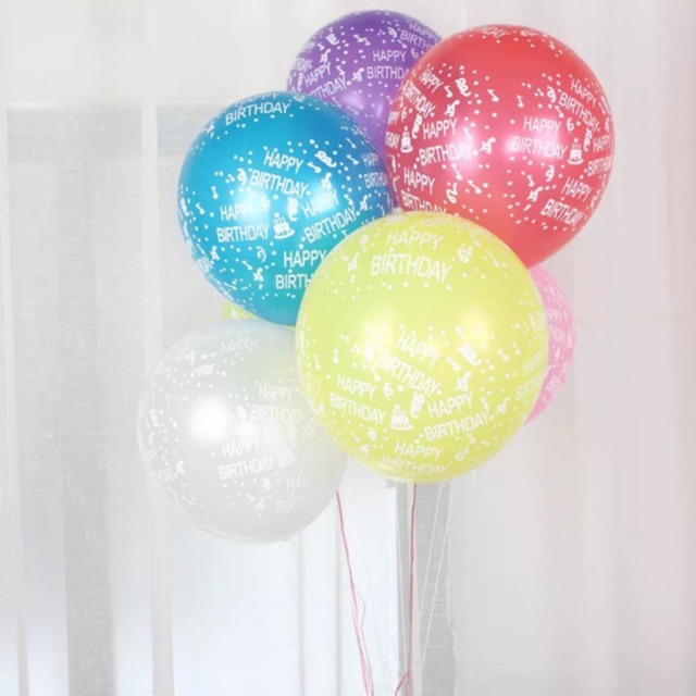 Happy Birthday Balloon 10 Set Assorted Cod High Quality With Stick And Cups 158 Shopee Philippines
