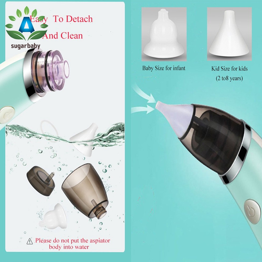 Baby Nasal Electric Aspirator Sucker Nose Mucus Boogies Vacuum Cleaner 5 Levels of Suction for Newborn Infant Toddlers and Kids Snot Sucker Mucus Remover for Kids Toddlers