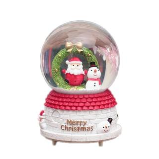 Christmas Snow Globe Music Box Snowman DIY Decoration Xmas ...