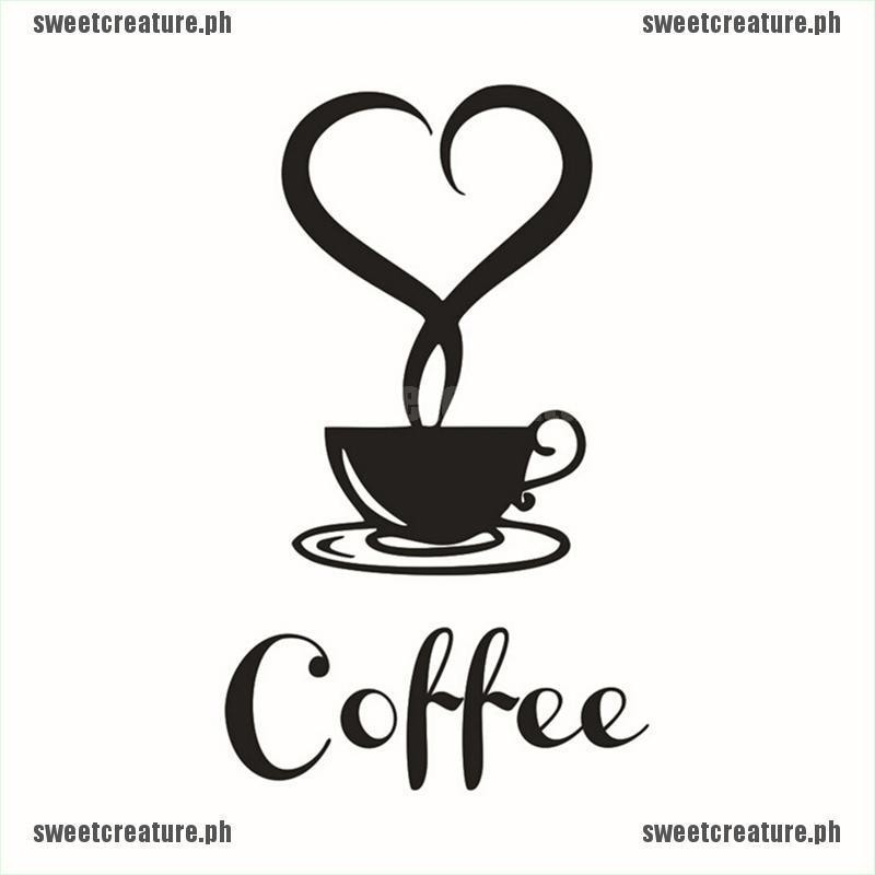 Coffee Cup Decals Removable Vinyl Mug