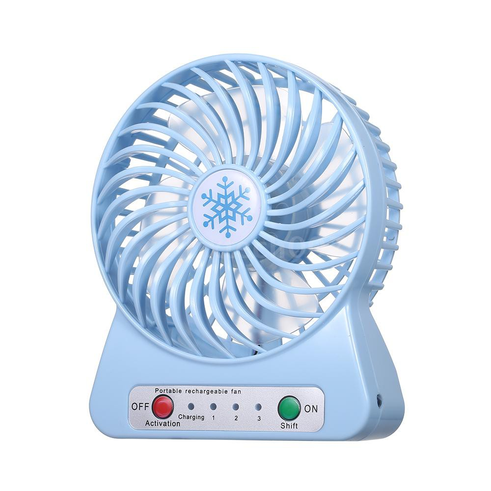 USB Table Desk Personal Fan Summer USB Mini Charging Fan Palm Air Conditioner Small Electric Outdoor Handheld Pocket Portable Fan for Home Office Table Color : Purple