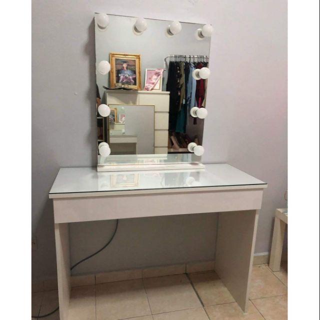 Frameless Hollywood Vanity Mirror Set, Hollywood Vanity Mirror Frameless