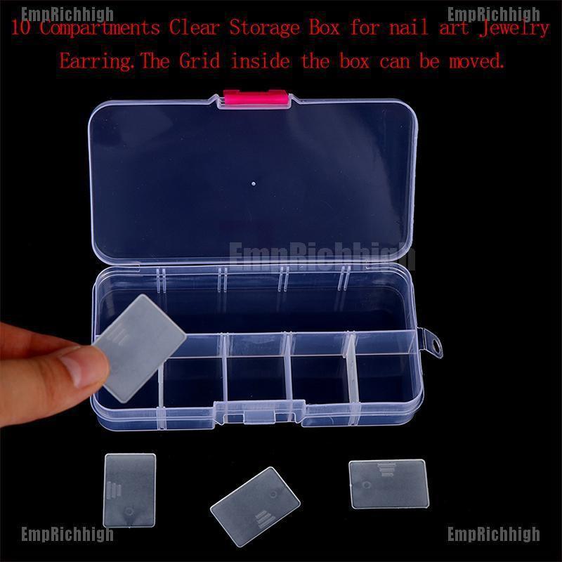 16 Clear Plastic Storage Boxes Organizer