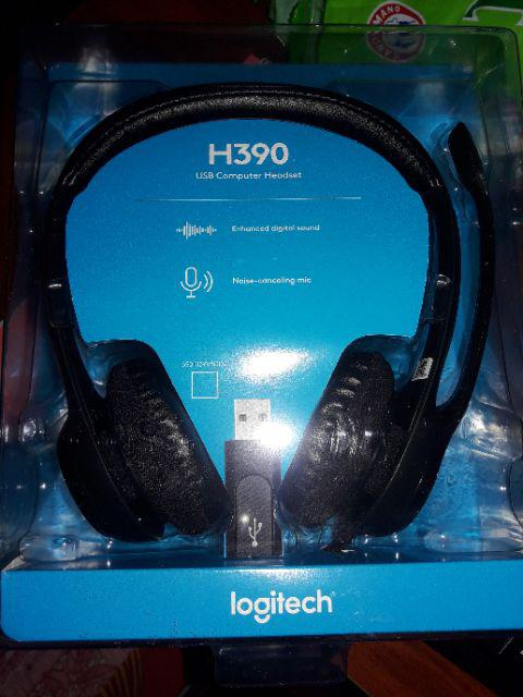 Logitech USB Headset H390 with Noise Cancelling Microphone