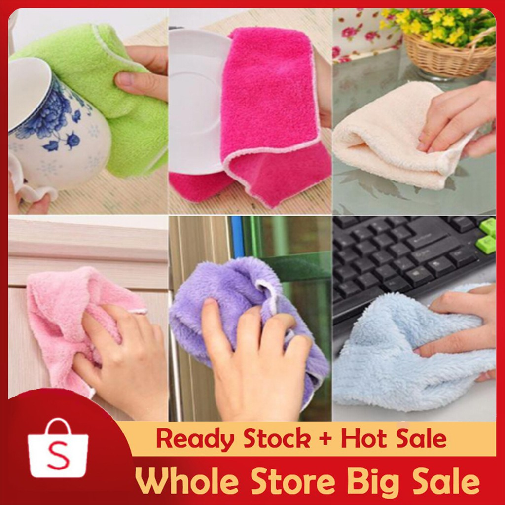 Bamboo Fiber Washing Towel Magic Kitchen Cleaning Wiping Rags For Kitchen Gadget