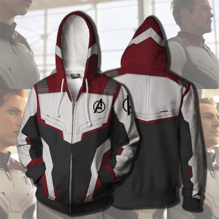 Avengers Endgame Quantum Battle Suit Hoodie Coat Cosplay Costume Sweatshirt