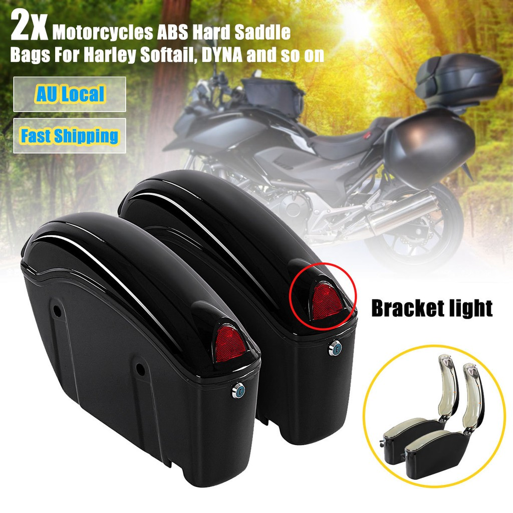 Motorcycle Hard Trunk Saddlebags Saddle Bags Side Bo