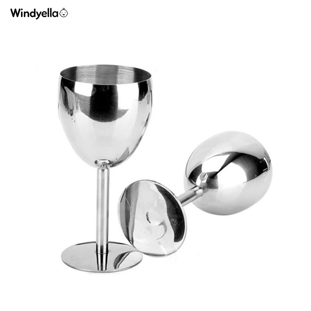 180ml Stainless Steel Red Wine Glass Goblets Bar Party Juice Drink Champagne Cup