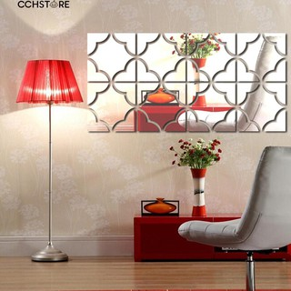 Cch 4 Pcs Modern Square Shape Mirror Diy Geometric Wallpapers