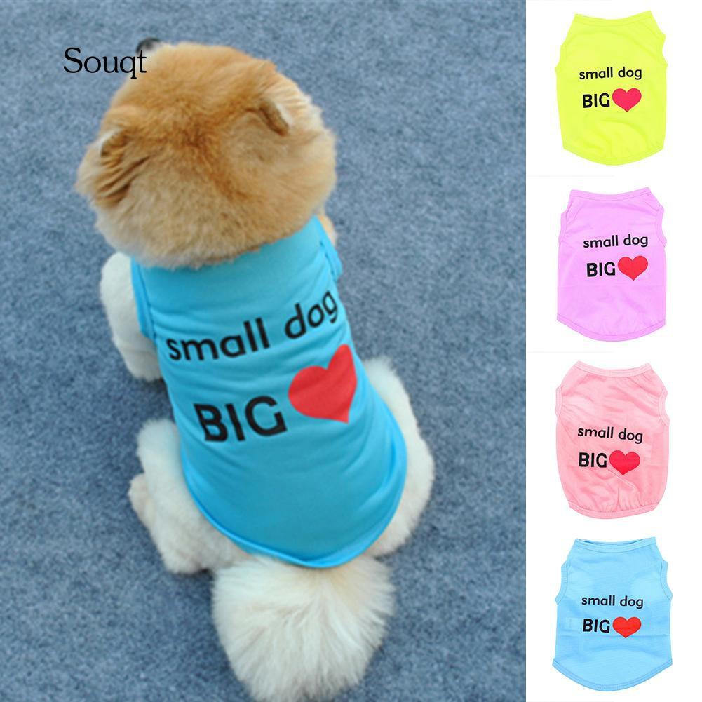 0cc16ca26a22d SQ_Summer Cute Small Dog Big Heart Print Dog Puppy Doggie Vest Pet Clothes  Costume