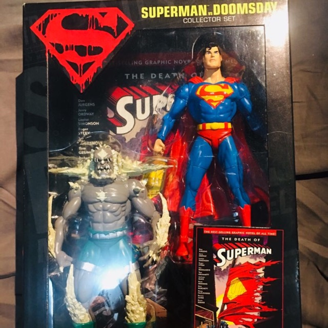 Hard To Find Superman Vs Doomsday Action Figure 100 Authentic