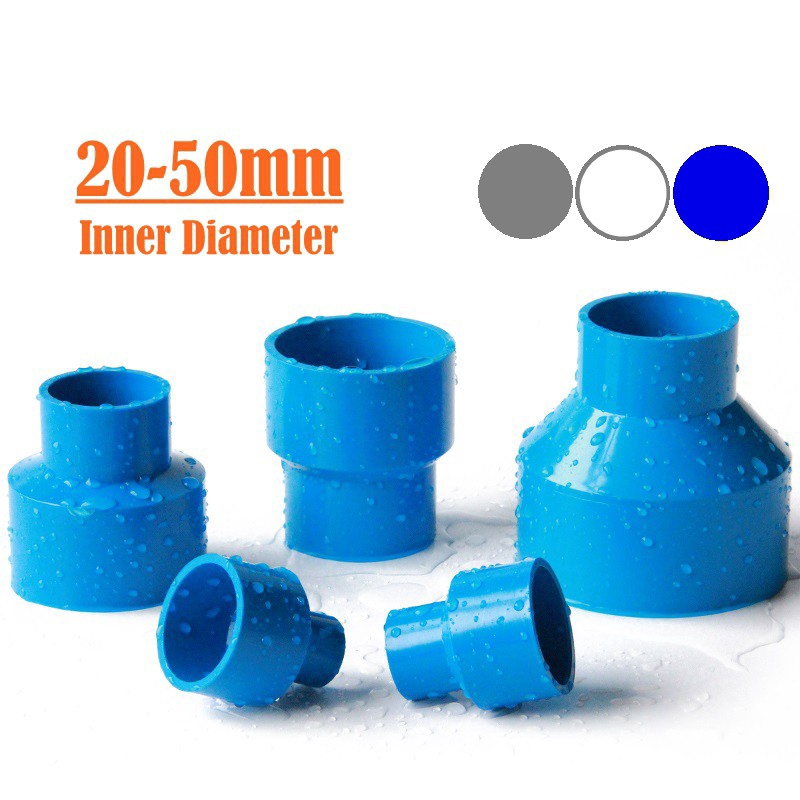 1pc ID 63mm To 20~50mm PVC Reducing Straight Joints Agricultural Irrigation Garden Water Connectors Aquarium Fish Tank DIY Tools Color : 63 40mm, Diameter : Gray