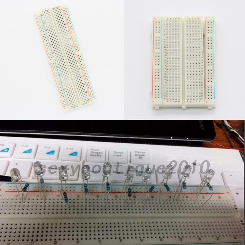 Tools Power Tool Accessories Ingenious Solderless Prototype Pcb Breadboard 400 Points Holes Clear Electronics