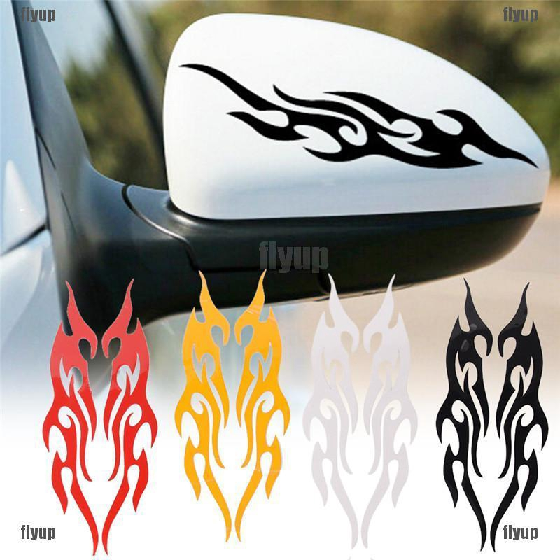Fender Strat Guitar Fire Flames Rear Window Decal Graphic for Truck SUV