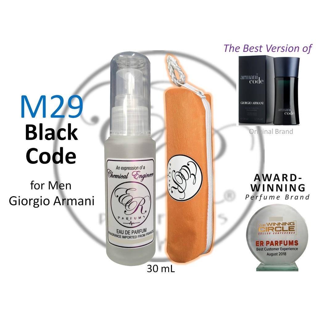 Er Parfums M29 Black Code For Men By Giorgio Armani 30ml Shopee