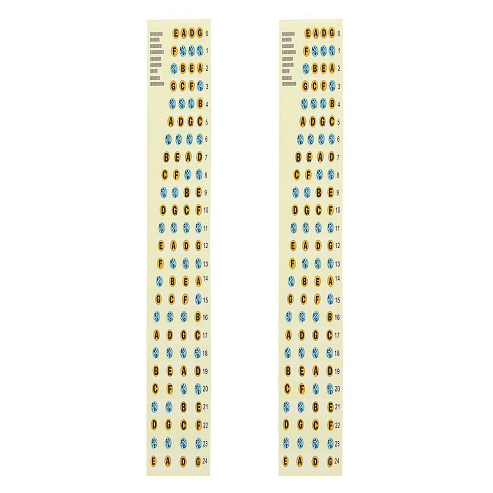 On Sale*2Pcs Fingerboard Note Label Fret Stickers for Guitar Bass