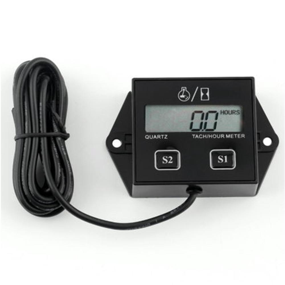 Tachometer for Marine Spark Engine Motor Hot Tiny Tach Digital Hour Meter