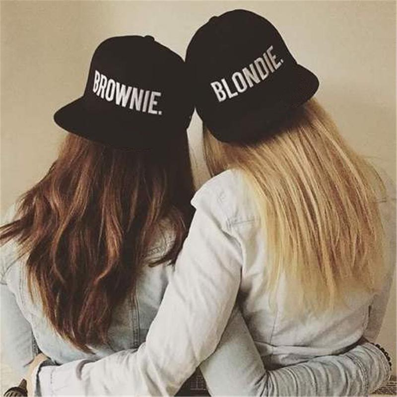 54838388 BROWNIE Embroidery Snapback Hats cotton couple Tennis Caps