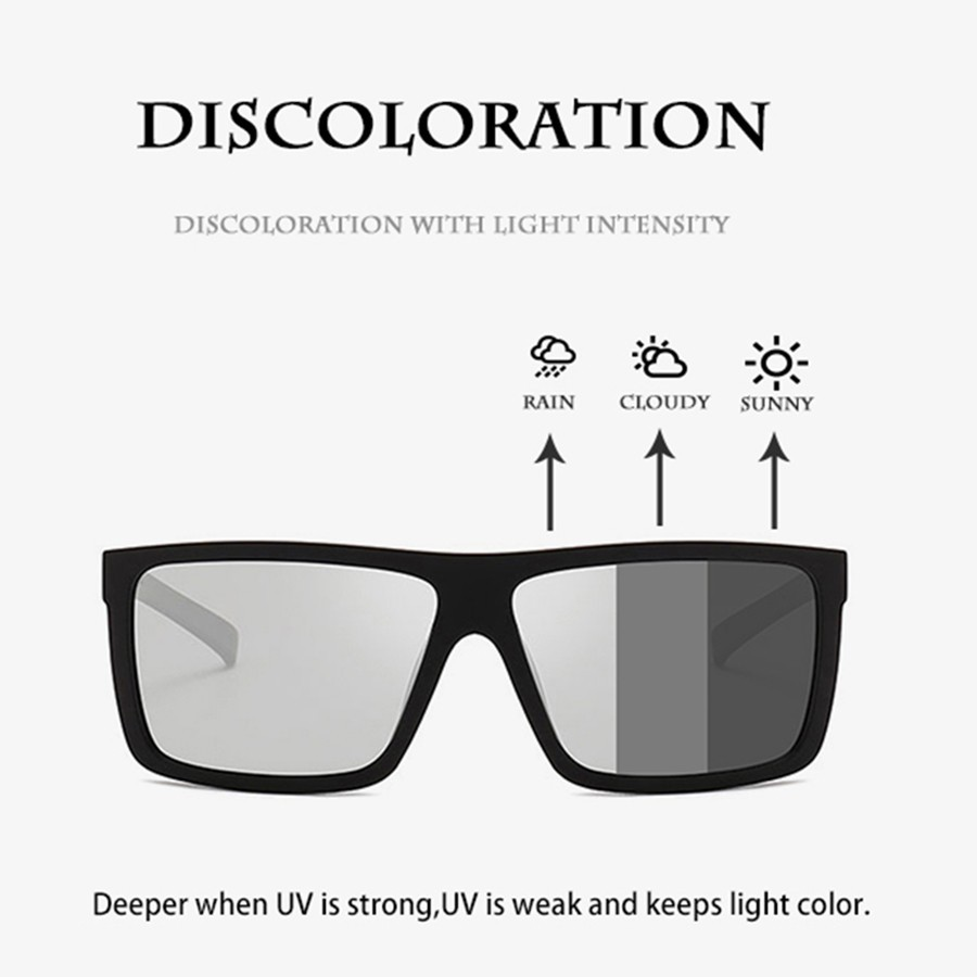 Aluminum Polarized Photochromic Sunglasses Men Chameleon Sports Driving Glasses
