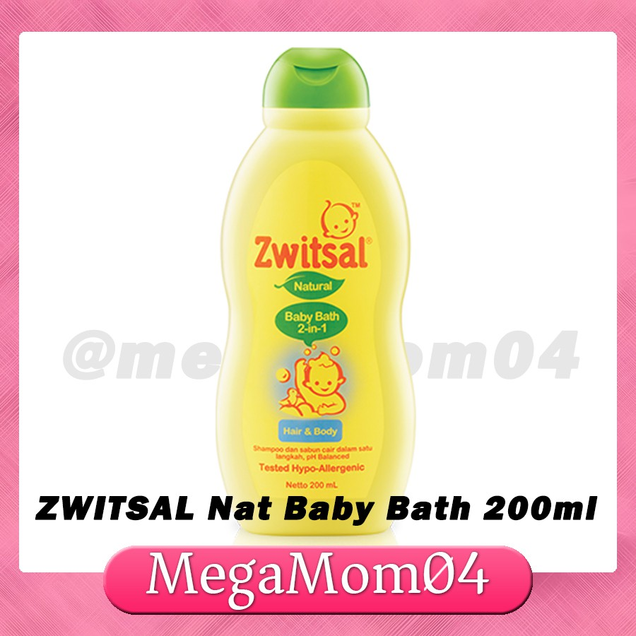 Zwitsal 200ml Natural 2n1 Baby Bath hair and Body shampoo | Shopee Philippines