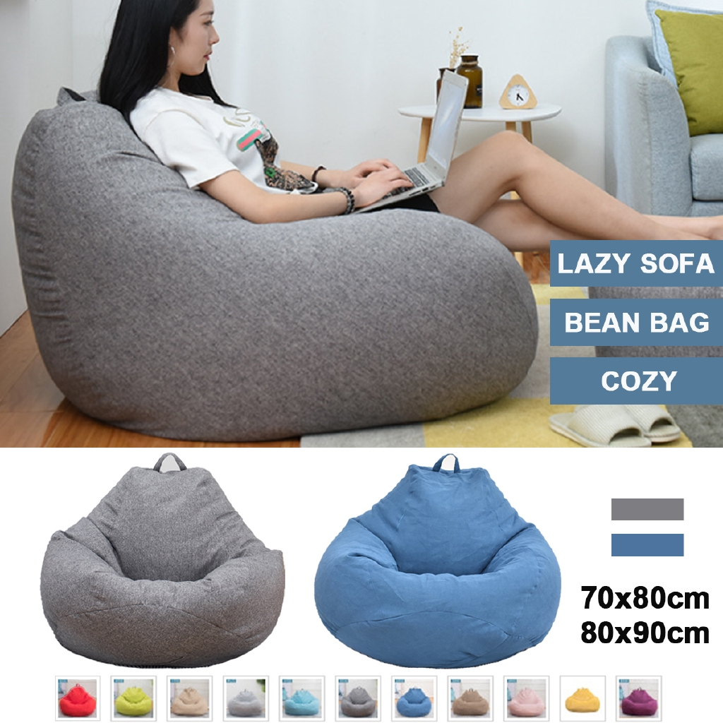 Bean Bag Only Cover Lazy Sofa Indoor
