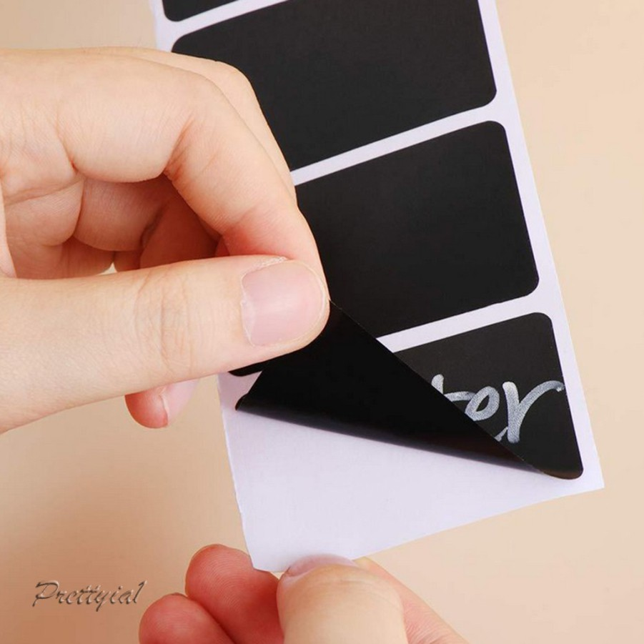 300Pcs Chalkboard Labels Stickers Decals Reusable Removable Blackboard Tag