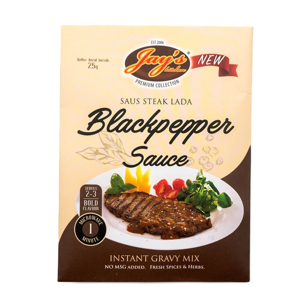 Jays Kitchen Black Pepper Steak Sauce Instant Gravy Mix 25gr Shopee Philippines