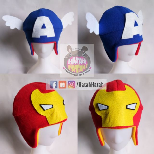 Captain America Iron Man Avengers Hat (handmade)