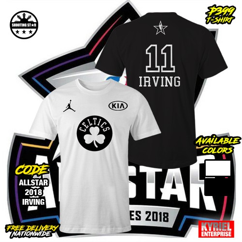 039c07966a8 NBA All Star 2018 Kyrie Irving 11 T-Shirt