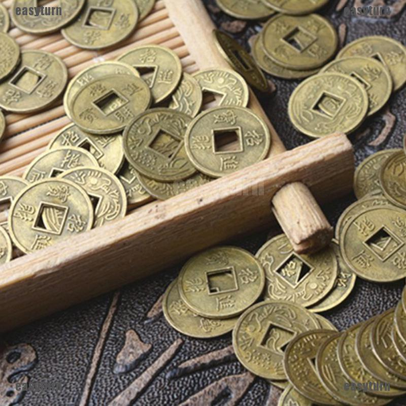 100Pcs Feng Shui Coins Ancient Chinese I Ching Coins For Health Wealth Charm Sa Sammeln & Seltenes Esoterik, Mystik & Magie