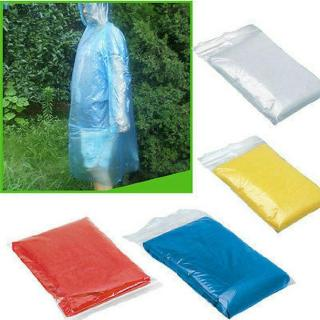 Disposable Raincoat Durable Rain Poncho Camping Lightweight Random Color 1PC