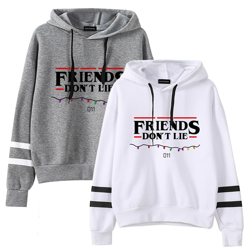 MISISI Stranger TV Show Things Friends Dont Lie Upside Down Hoodie Sweater Sweatshirt Pullover