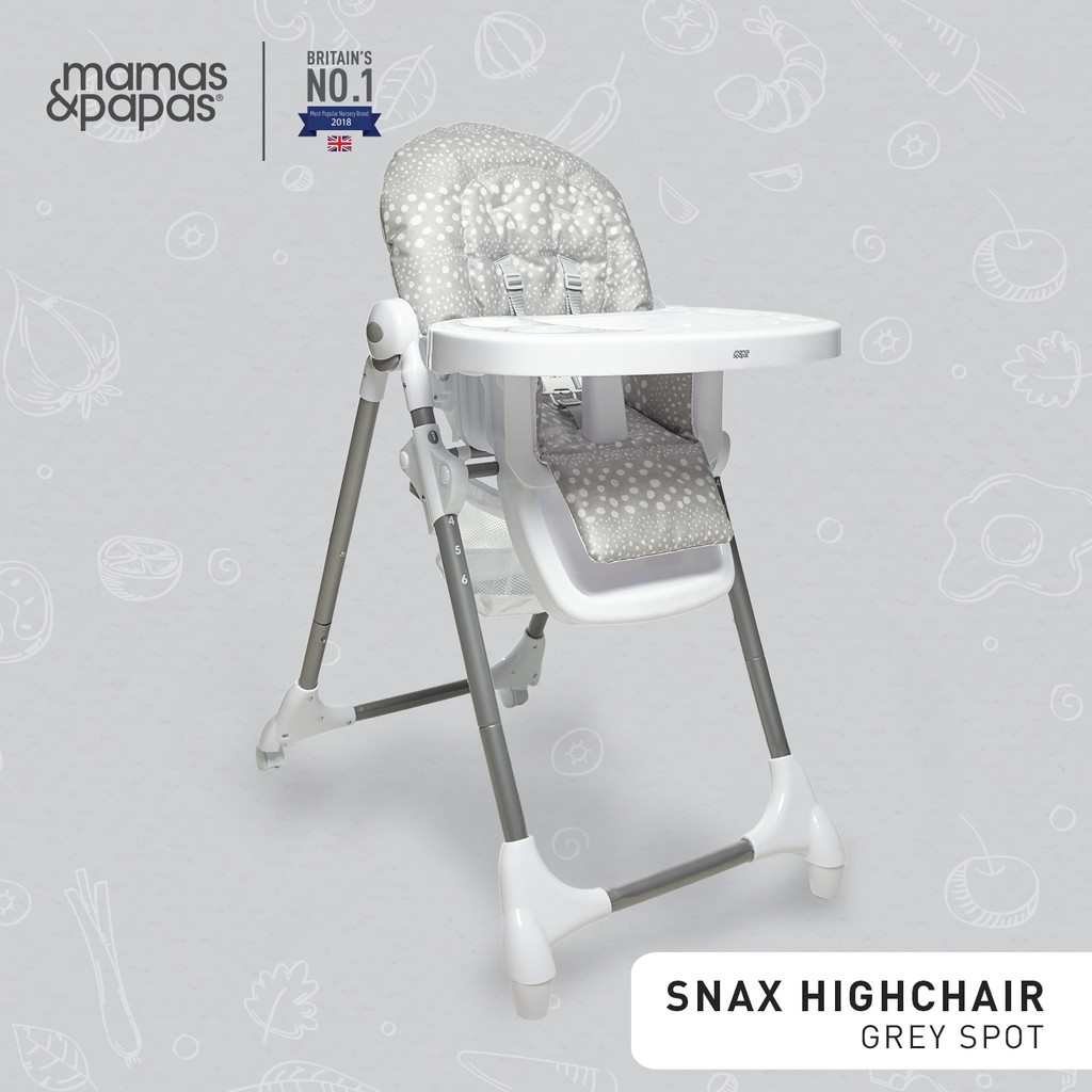 Mamas and Papas Snax Highchair Grey Spots