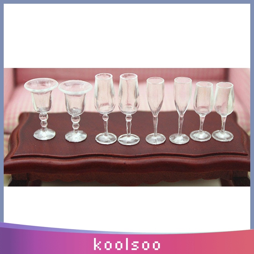 Dollhouse Miniature Wine Glasses Goblets For Doll Bar Kitchen Dining Room Decor Pack Of 8 Shopee Philippines