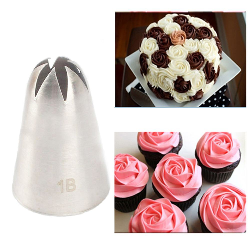 4pcs Large Size Icing Piping Nozzles Tips Pastry Cake Sugarcraft Decorating Set